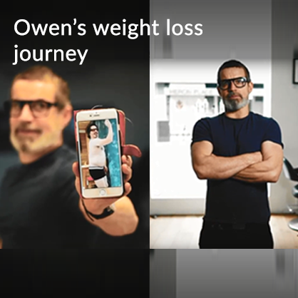 * Owen's weight loss journey